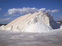 Mountain of salt Stock Photos