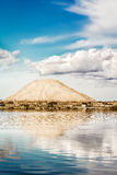 Mountain of salt at the salt pans of Marsala (Italy) Royalty Free Stock Images