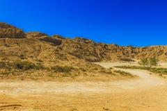 Salt stone mountain. The mountain of salt stone in Djelfa county, Algeria royalty free stock photos