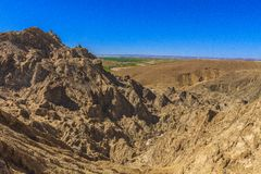 Salt stone mountain. The mountain of salt stone in Djelfa county, Algeria royalty free stock photo