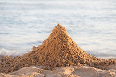 Mountain of sand Royalty Free Stock Photography