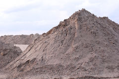 Mountain of sand Stock Images