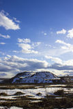 A mountain. Of sand covered with snow Royalty Free Stock Images