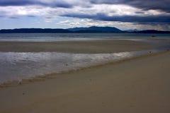 mountain  sand isle in indian ocean Royalty Free Stock Photos