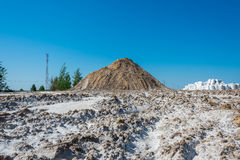 Mountain with sand and salt. Stock Photography