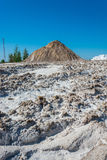 Mountain with sand and salt. Royalty Free Stock Images
