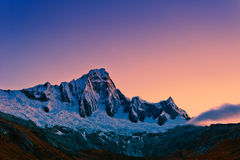 Mountain of the Santa Cruz Trek Royalty Free Stock Images