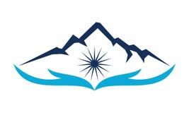 Mountain Savage Care. Logo Design Template Vector Royalty Free Stock Photo