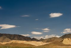 Mountain Scape in the Mojave Desert. Mojave Desert Mountain scape Royalty Free Stock Image