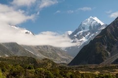 Mountain scape of Mt. Cook, New Zealand Stock Photography