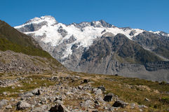 Mountain scape of Mt. Cook, New Zealand Stock Image