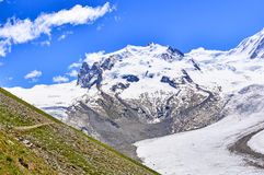 Mountain scence. This is a photo of landscape mountain in Switzerland Royalty Free Stock Images