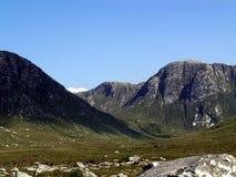 Mountain scene. Mountain glen in Ireland on sunny day Stock Image