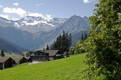 Mountain scene, Adelboden, Switzerland Stock Images