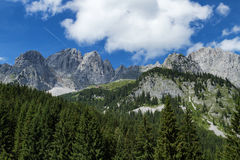 Mountain scene in the Alps austrian travel destination Wilder Kaiser chain, Tyrol Stock Photography