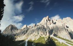 Mountain scene in The Dolomites. Mountain scene,The Dolomites,windswept cloud Stock Image