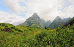 Mountain scene in Lao Cai, Vietnam Stock Images
