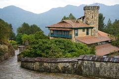 Mountain scene on Monserrate, Colombia royalty free stock photography