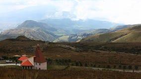 Mountain scene near Quito, Ecuador stock footage
