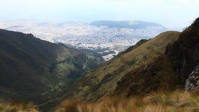 A mountain scene near Quito stock video