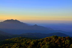 Mountain scene in north of Thailand Royalty Free Stock Image