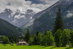 Mountain Scene in Switserland. Impression of the Rugged Mountainous Scenery in Central Switserland Royalty Free Stock Photos