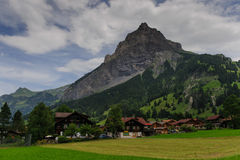 Mountain Scene in Switserland. Impression of the Rugged Mountainous Scenery in Central Switserland Stock Images
