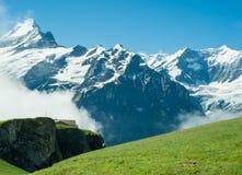 Mountain scene in swizterland Royalty Free Stock Images