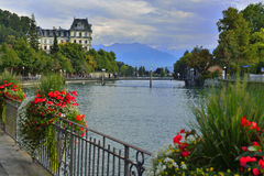 Mountain scene, Thun, Switzerland Stock Image