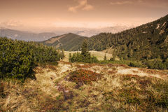 Mountain scene Stock Images