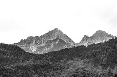 Mountain Scene white black peak. Very much one of the main tourist attractions and points of interest in the area stock images