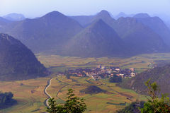 Mountain scenery. Karst geological features the pastoral scenes of the region Stock Images