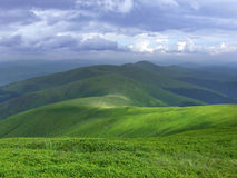 Mountain scenery. Beautiful picture of mountain range in summertime Stock Photo