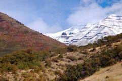 Mountain scenery. In possibly three seasons royalty free stock photos