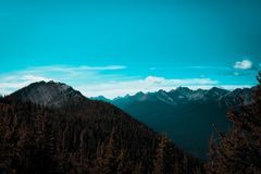 Mountain Scenery of Alberta stock photography