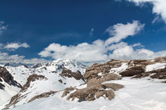 Mountain scenery in the Alps Royalty Free Stock Images