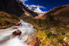 Mountain scenery in the Andes. Mountain landscape in the Andes, Peru, Cordiliera Blanca Royalty Free Stock Photography