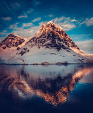 Mountain scenery in Antarctica Stock Photos