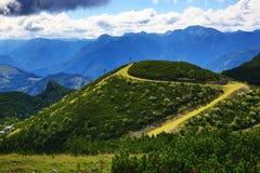 The mountain scenery around Feuerkogel, Salzkammergut, Salzburg, Austria Stock Photos