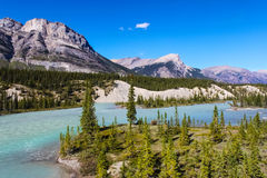 Mountain scenery in Banff national park Royalty Free Stock Photo