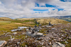 Mountain scenery - cairn Royalty Free Stock Image