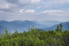 Mountain scenery in Carpathians Royalty Free Stock Images
