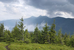 Mountain scenery in Carpathians Royalty Free Stock Photography