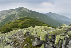 Mountain scenery in Carpathians Royalty Free Stock Photo