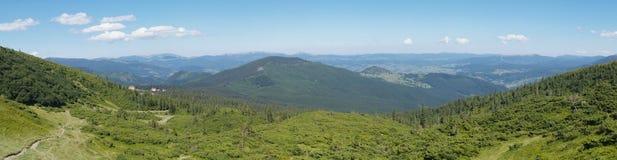 Mountain scenery in Carpathians Stock Image