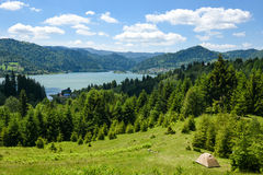 Mountain scenery. Colibita lake in Transilvania Romania, Carpathian mountains Royalty Free Stock Photography