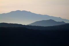 Mountain scenery Crete. Beautiful sunrise stock image
