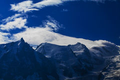 Mountain  scenery in the french Alps in summer Stock Photos