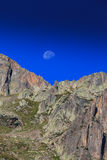 Mountain  scenery in the french Alps in summer Royalty Free Stock Images