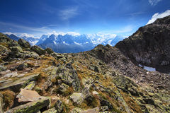 Mountain  scenery in the french Alps in summer Stock Images
